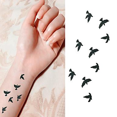 Bird Free to Fly in Sky Tattoo Stickers Temporary Tattoos(1 Pc)