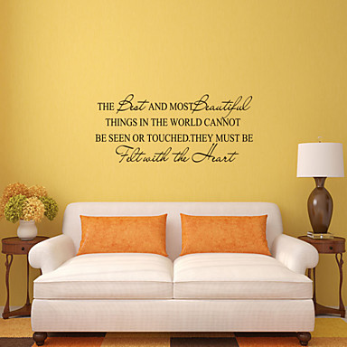 Dekoratif Duvar Çıkartmaları - Kelimeler ve Alıntılar Duvar Çıkartmaları Sözler ve Alıntılar Oturma Odası / Yatakodası / Banyo