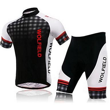 WOLFBIKE® Φανέλα και σορτς ποδηλασίας Γυναικεία / Ανδρικά / Γιούνισεξ Κοντομάνικο Ποδήλατο Αναπνέει / Γρήγορο Στέγνωμα / Συμπίεση / 3D Pad