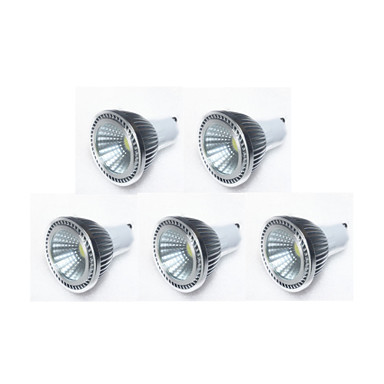GU10 LED Spotlight MR16 1 COB 450 lm Warm White Cold White Natural White K Dimmable AC 220-240 AC 110-130 V