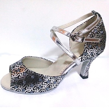 Egyedi sarok - Csillogó glitter - Latin/Salsa/Standard cipő - Női