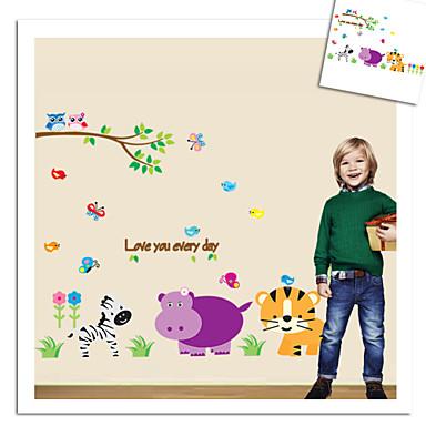 çocuk odası için maymun fil aslan hayvanat bahçesi duvar sticker dekoratif çıkarılabilir pvc duvar çıkartma zooyoo9046