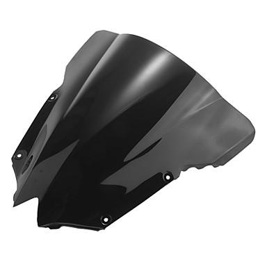 motorsykkel frontruten vindskjerm skjermen svart for yamaha R6 08-09