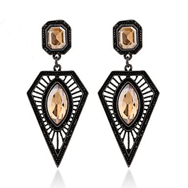 Žene Viseće naušnice Kristal Moda EuropskaBiseri Imitacija bisera Umjetno drago kamenje 18K zlato Imitacija dijamanta Austrijski kristal