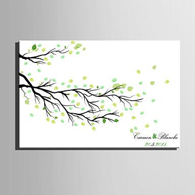 E-home® kişiselleştirilmiş parmak izi boyama tuval baskılar - düşmüş yaprakları (12 mürekkep renkleri içerir)