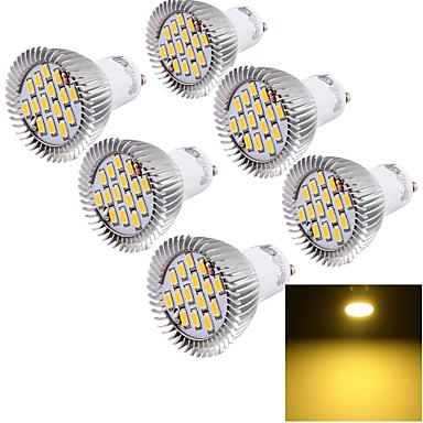 YouOKLight 6 W 450-500 lm GU10 LED szpotlámpák 15 led SMD 5630 Dekoratív Meleg fehér AC 85-265V
