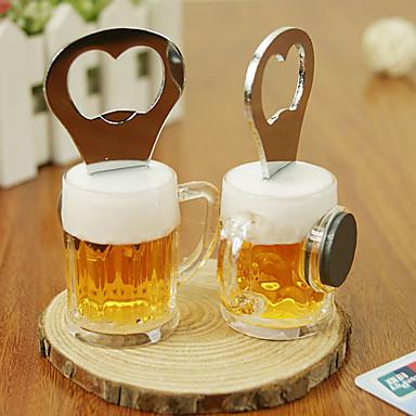 2 in 1 Edelstahl-Bier förmigen Flaschenöffner Kühlschrank Magnet Memo