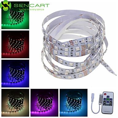1m 60x5050 SMD RGB 15w led csík lámpa + 10 gombos RF (DC 12V)