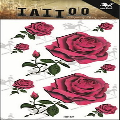 1 Non Toxic Large Size Lower Back Flower Series Tattoo Stickers
