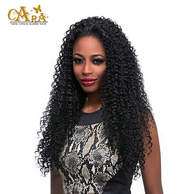 Human Hair Lace Wig Human Hair Full Lace Density Kinky Curly Wig Black Short Medium Length Long