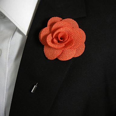 남성용 틴타늄 꽃장식 Light Orange 보석류 의상 보석