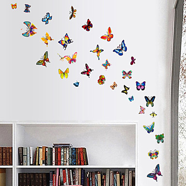 Wall Stickers Wall Decals Style Color Butterfly PVC Wall Stickers