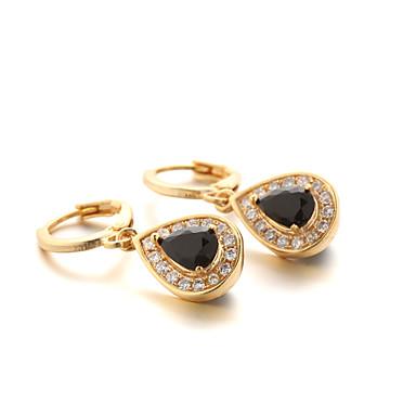 Κρίκοι Μοντέρνα Ζιρκονίτης Cubic Zirconia Επιχρυσωμένο Κοσμήματα Για 2pcs