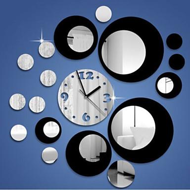 Yaratıcı üç boyutlu yuvarlaklık 3d ayna duvar saati