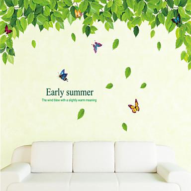 Мультипликация ботанический Наклейки Простые наклейки Декоративные наклейки на стены, Винил Украшение дома Наклейка на стену Стена