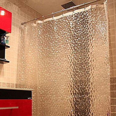 1pc Duş Perdeleri Sade PEVA Su Geçirmez Banyo