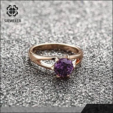 Duże pierścionki Modny Cyrkonia Pokryte różowym złotem Biżuteria Na Ślub Impreza 1szt