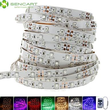 SENCART 5 m LED-es szalagfények 300 LED 3528 SMD Meleg fehér / Fehér / Piros Cuttable / Tompítható / Összekapcsolható 12 V / Gépjárműbe / Öntapadós