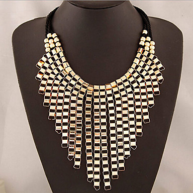 New Arrival Fashional EXAGGERATED Metal Luxury Tassel Necklace