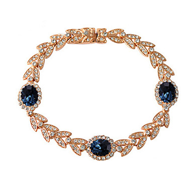 Damskie Bransoletki z breloczkami Kryształ Kryształ Stop luksusowa biżuteria Leaf Shape Biżuteria 1szt