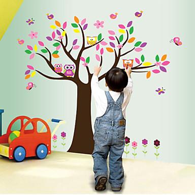 seinä tarroja seinäsiirtokuvia style pöllö puu pvc seinä tarroja