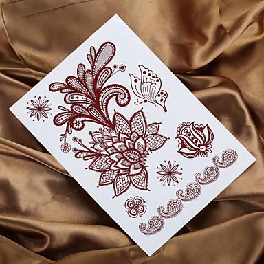 2016 4шт Индийская хна татуировки mendhi картины стикер татуировки временную татуировку