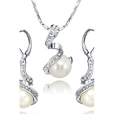 Women's Pearl / Crystal / Imitation Pearl Jewelry Set Earrings / Necklace - Jewelry Set For Wedding / Party / Daily