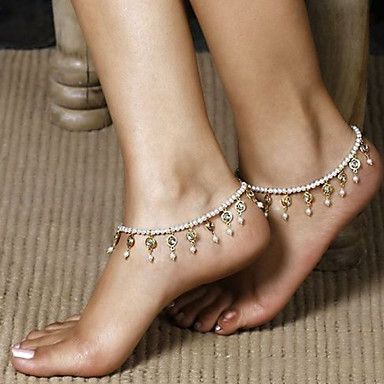Kristall Quaste Fusskettchen / Körper-Kette / Bauchkette - Perle damas, Einzigartiges Design, Quaste, Modisch Damen Silber Körperschmuck Für Alltag / Normal