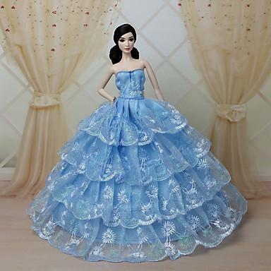 Вечеринка Платья Для Кукла Барби Кружево органза Платье Для Девичий игрушки куклы