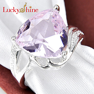 Men's Women's Statement Ring Silver Triangle Geometric Classic Fashion Party Costume Jewelry