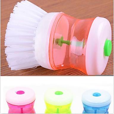 1db műanyag kefe konyha mosás eszköz tisztítása véletlenszerű szín