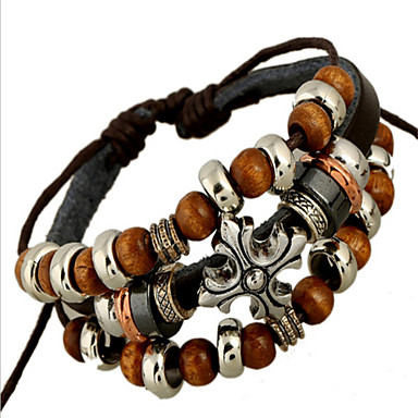 Leather Bracelet Vintage Cute Party Work Casual Cute Style Punk Leather Jewelry Party Costume Jewelry