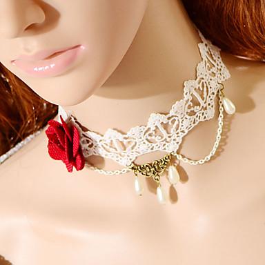 мода большой цветок капельного жемчужное ожерелье