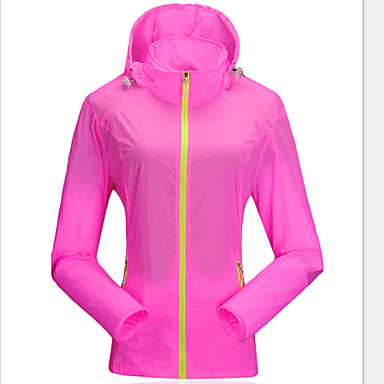 Women's Hiking Jacket Outdoor Waterproof Quick Dry Windproof Ultraviolet Resistant Anti-Insect Breathable Transparent YKK Zipper