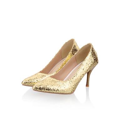 04798130 Dorado Stiletto Semicuero Purpurina Morado Tacón Zapatos Primavera Verano Mujer S8qAz