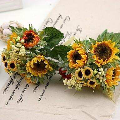 jedwabiu słonecznika bukiet 2 / lot bukiety bukiet 5 sztuk każdego do dekoracji ślubnych