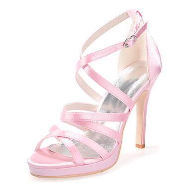 Faux amp; Evénement Eté Printemps Femme Champagne Cuir Ivoire Soirée Aiguille Chaussures 03587531 Talon Rose Mariage 57qqfxF1n
