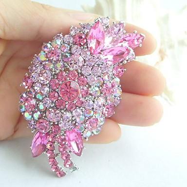 γυναικεία αξεσουάρ ασήμι-Ήχος ροζ στρας κόσμημα γάμου καρφίτσα λουλούδι διακόσμηση καρφίτσα κοσμήματα γαμήλια ανθοδέσμη
