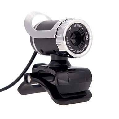 USB 2.0 12 m hd kamera webkamera 360 graders med mikrofon klips for stasjonær skype datamaskin PC Laptop
