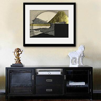Paysage / Fantaisie Toile Encadrée / Set de Cadres Wall Art,PVC Noir Passepartout inclus Avec Cadre Wall Art