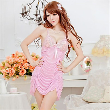 9eaf44df0c7e Women s Lace Super Sexy Chemises   Gowns   Ultra Sexy Nightwear - Lace    Pleated Solid Colored
