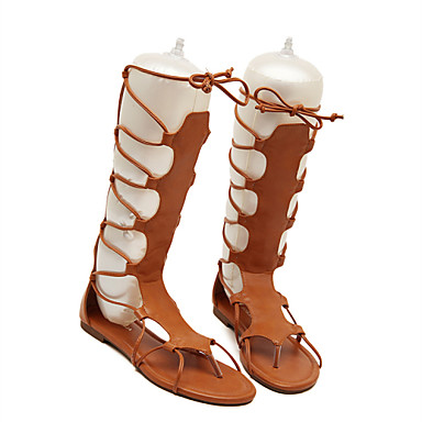 03681651 Eté de Noir Printemps Femme compensée Chaussures semelle Hauteur Rubans Similicuir Kaki qWgwwUnf