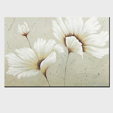 교수형 유화 한 패널 현대 꽃 손으로 그린 캔버스 준비