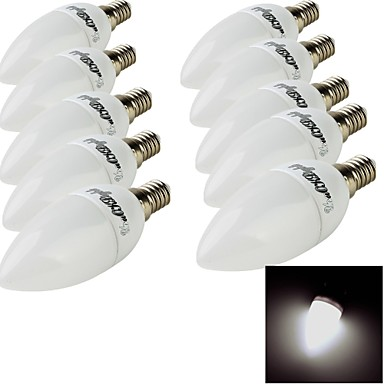 E14 Ampoules Bougies LED 10 diodes électroluminescentes SMD 2835 Décorative Blanc Chaud Blanc Froid 200lm 3000/6000K AC 100-240V