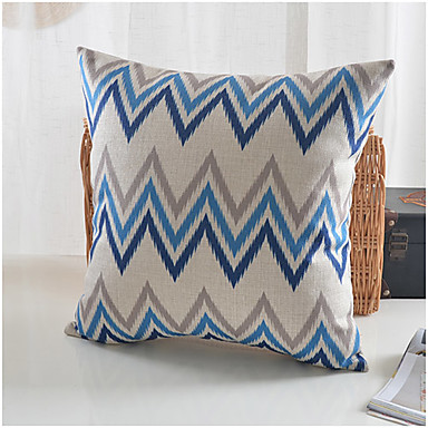 1 pcs Cotton/Linen Pillow Cover, Striped Country