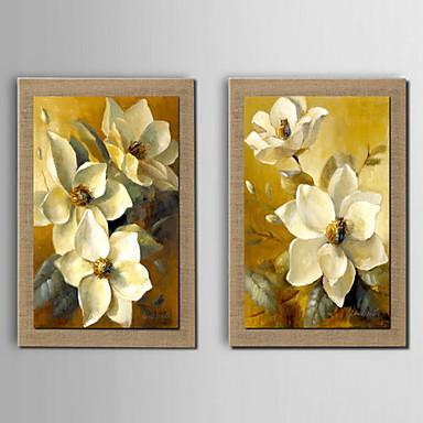 Pintados à mão Floral/Botânico Horizontal Pintura a Óleo Decoração para casa 3 Painéis