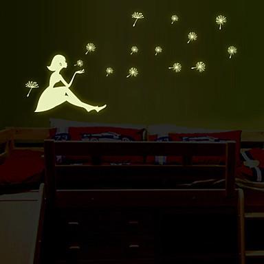 Dekoratif Duvar Çıkartmaları - Işıklı Duvar Çıkartmaları Şekiller Oturma Odası Yatakodası Banyo Mutfak Yemek Odası Çalışma Odası / Ofis