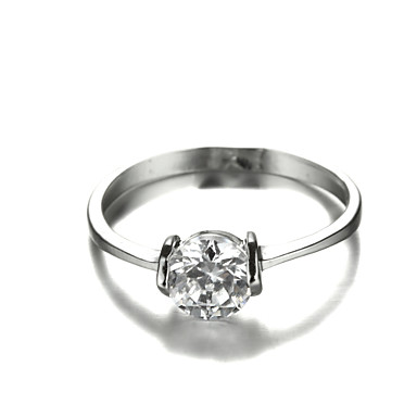 Массивные кольца Мода Цирконий Платиновое покрытие Искусственный бриллиант Бижутерия Для Свадьба Для вечеринок 1шт