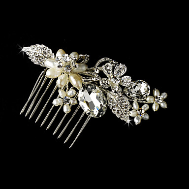 Freshwater Pearls Wedding Bride Flower Combs Hair Accessories
