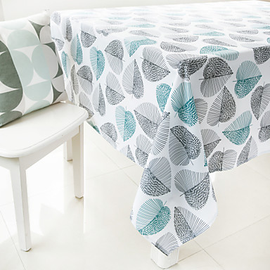 Polyester Rectangular Table Cloth Patterned Eco-friendly Table Decorations